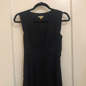 Anthropologie Long, Navy Dress